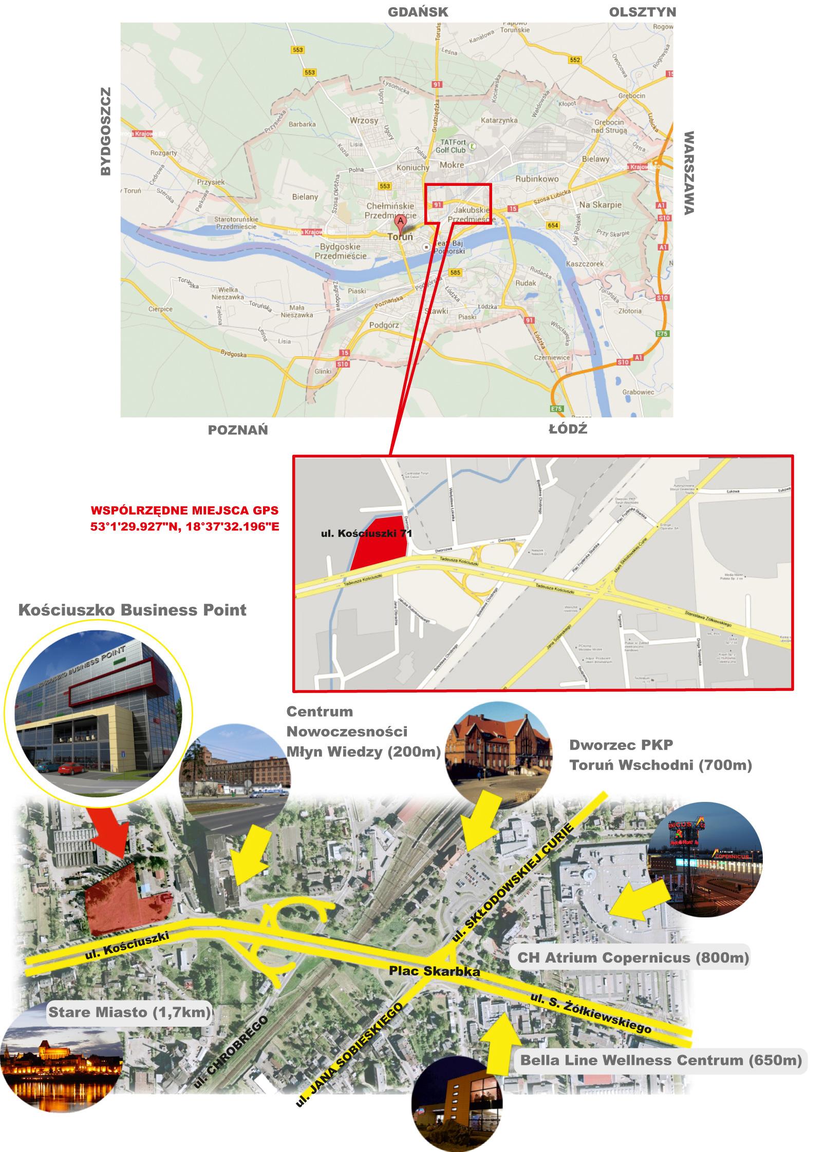 biurowiec Kościuszko Businness Point, ul. Kościuszki 73, 87-100 Toruń